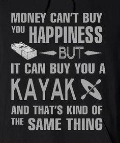 Kayaking is happiness.