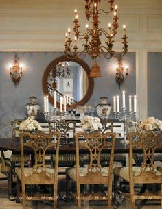 Palm Beach Style Formal Dining Room