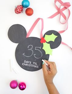 Let your Disney flag fly this holiday season with these easy Disney Christmas crafts. Whether you're planning on gifting your kids a Disney trip and want to drop a subtle hint, or you just need a little more mouse in the house, if your kids have some time to spare before Christmas day this week, set them up with a few of these Disney-inspired craft projects.