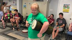 Trying out the Toca Percussion talking drum 👍 Video courtesy of The Down Syndrome Association of South Texas.