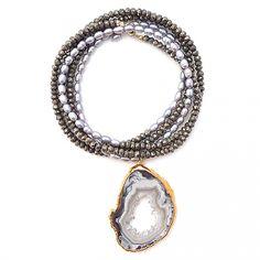 "druzy-slice-pearls-pyrite.jpg  Gold & Gray $295 38"""