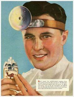 "Vintage Camel cigarettes ad ""The cigarettes Doctors smoke."""