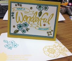 Love StampinUp's You're Wonderful photopolymer set.  Details on my card at http://www.stampinup.net/blog/76561/entry/you_re_wonderful