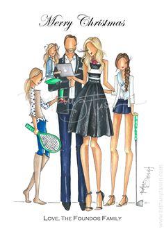 Brittany Fuson: Custom Christmas Cards // Foundos family www.brittanyfuson.com