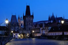 600 years old view from the bridge to the castle Prague, Walks, Medieval, Photographers, Bridge, Castle, Tours, Night, City