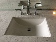 I love this sink - it fits in with both contemporary and traditional aesthetics, and American Standard is a great affordable brand. I'd use this in all of the bathrooms. American standard studio under mount sink American Standard, Plumbing, Master Bath, Faucet, Third, Bathrooms, Sink, Aesthetics, Floor