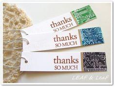 gift tags 付箋紙みたいなサンキュータグ