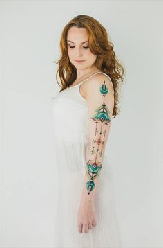 Navajo Tattoo, Tribal Tattoos, Tattoos Skull, Life Tattoos, Cool Tattoos, Memorial Tattoos, Sleeve Tattoos For Women, Women Sleeve, Unique Mehndi Designs