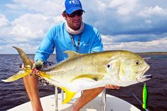 How to Hook a Jack Crevalle: Capt. Miles LaRose shows off a quality grade jack crevalle taken from Lake Ponchartrain.