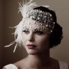 Vintage wedding hair.  That is SO beautiful, wish I could pull it off.