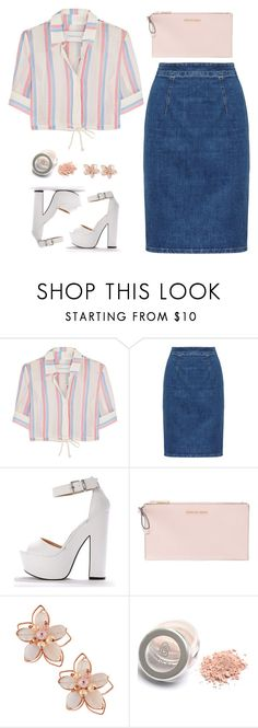"""""""Block Heels"""" by turtle03 ❤ liked on Polyvore featuring Solid & Striped, MICHAEL Michael Kors and NAKAMOL"""