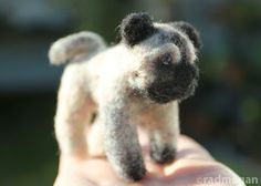 Needle-Felted Pug: Mom's Best Friend - Radmegan