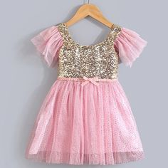 Cheap gold backless dress, Buy Quality dress up wedding gowns directly from China dresses sexy Suppliers:  2015 fashion desigual ruffle sleeve toddler girls sequin peach and gold dress   About free shipping     In order t