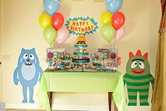 Katie Grace Designs: AMAZING Yo Gabba Gabba Party!