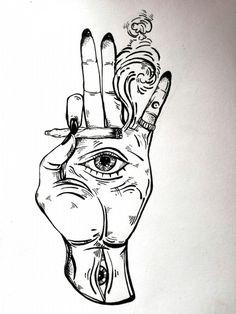 Trippy Drawings, Dark Art Drawings, Pencil Art Drawings, Art Drawings Sketches, Tattoo Sketches, Cool Drawings, Tattoo Drawings, Doodle Art Drawing, Horse Drawings