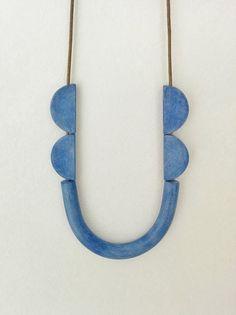Tube necklace tribal inspired minimal & fun by debroervandevogel