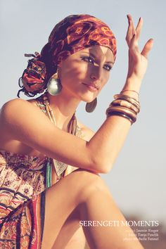 Perfect headscarf, earrings, bangles