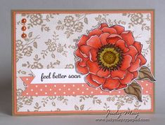 SU I Love Lace BG, Blended Bloom - sub a bouquet of SU Flower Shop/Petite Petals