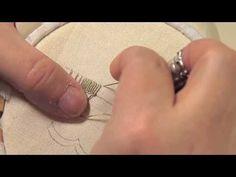 Les petites leçons de Marie Suarez - Le point feston en broderie - Edisaxe - YouTube