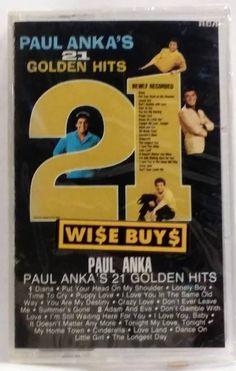 PAUL ANKA's 21 GOLDEN HITS 1963 CASSETTE TAPE - NEW/FACTORY SEALED  | eBay