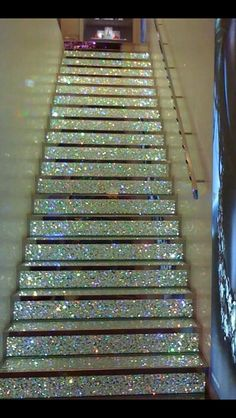 Glitter stairs!!!!!!! I seriously want them!