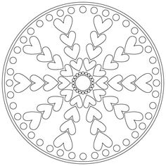 Free Mandala Coloring Pages. All holiday coloring sheets are printable. Mandala Coloring Pages, Coloring Book Pages, Coloring Sheets, Zentangle Patterns, Embroidery Patterns, Zentangles, Art Classroom, Valentine Crafts, Teaching Art