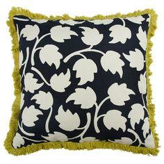 """Vines 22"""" Linen Throw Pillow"""
