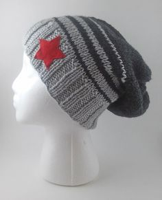58893b91be9 Winter Soldier Knit Slouchy Beanie - MADE TO ORDER