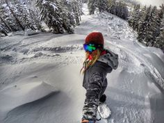Sick shot of Hannah Teter // shred, snowboard, snowboarder, snow, boots, mountain, surfing, board sports, action sports