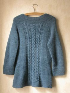 Heron Cardigan knitting pattern by Littletheorem on Folksy. Classic cabled cardigan pattern.