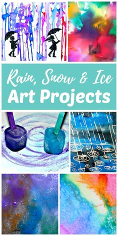 Create rain, snow and ice winter art this season! Most of these projects use natures elements to create art. Use real rain, snow, and ice or paint it with these easy winter art project ideas. Creating winter art is a fun way for kids to get creative on snowy or rainy winter days and connect with nature during the colder winter months.