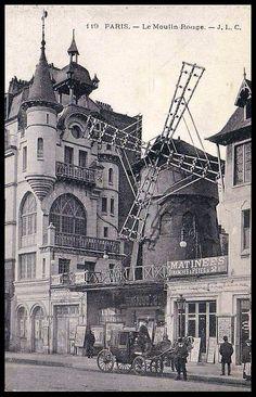 El Moulin Rouge. Place Blanche. Montmartre, ca.1900 (