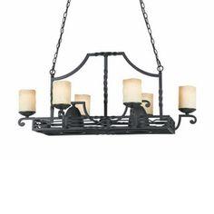 Triarch International Granada 8-Light Bronze Blacksmith Chandelier