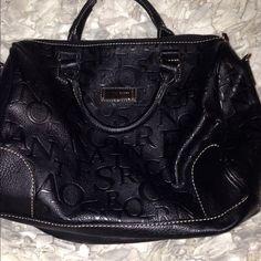 Black pocket book Franco Sarto bag- measures 12x5 at base and stands 8 inches Franco Sarto Bags Totes