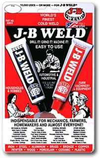 glue that will work on metal when you don't want to try to do a solder repair -use this on metals used for garden art. This works GREAT!
