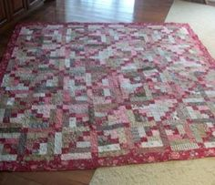Chain of Faith Quilt « Moda Bake Shop----free pattern. Sort of like a log cabin but with an Irish chain too.