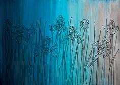 wallpaper IRIS FIELD - DAY 2 Field Day, Aurora, Iris, Sunrise, Abstract, Wallpaper, Artwork, Painting, Summary