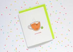You're a Hottie  card funny pun cute cartoon by queeniescards