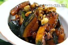 입에 살살 녹는 견과류 단호박조림 : 네이버 블로그 Kung Pao Chicken, Deserts, Food And Drink, Cooking Recipes, Beef, Ethnic Recipes, Kitchens, Chef Recipes, Food And Drinks