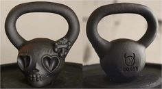 """20 lb. mini-DemonBelle - Inspired by tattoo culture """"sugar skull"""" art and paintings, this mini- DemonBelle is smooth, balanced and great for beginners or just a cool addition to your gym or even office. http://demonbells.com/p/1308/0/0/20-lb-DemonBell/"""