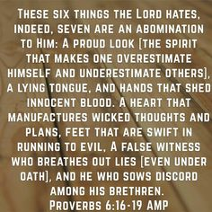 What God hates...