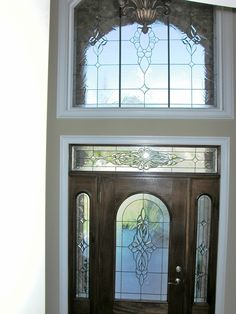 Dumont Founders design.  #stainedglass #door #custom-made #beautiful #classy #privacy #beveled #artsy #elegant #decor #textured #homedecor #traditional