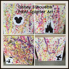 Disney Silhouette Paint Splatter Art