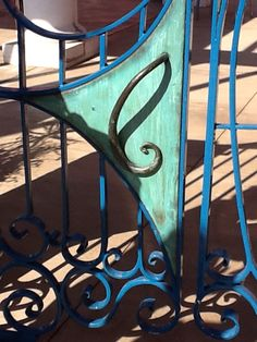 "Great gate designed by Jame Hubbell for ""the poet's Patio"""