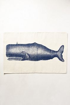 Victorian Whale Bathmat - anthropologie.com #anthrofave