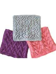 Trio of Lace Facecloths Knit Pattern