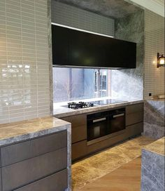 """189 Likes, 6 Comments - CDK Stone (@cdkstone) on Instagram: """"The Portsea Grey Marble detail in this kitchen looks fantastic. Stonework by @stonelux_au…"""""""