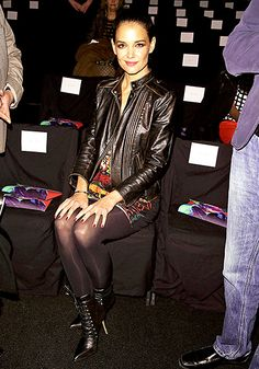 Sexy Katie Holmes in sexy sheer black pantyhose and boots Fall Fashion Week, Fashion Show, Autumn Fashion, Black Pantyhose, Black Tights, Katie Holmes, Hot Dress, Sexy Hot Girls, Sexy Outfits