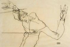 Einen Schwerpunkt von Silvermans Sammlung machen Selbstporträts aus: Egon Schiele zeigte sich 1914 als Heiliger Sebastian