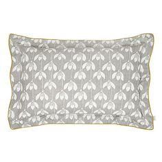Scion Light grey cotton 'Snow Drop' Oxford pillow case | Debenhams